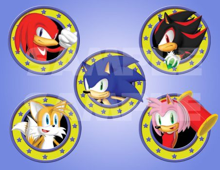 Sonic Badges set by Kewing