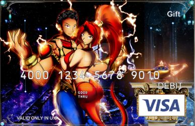 Djinn Action Rand - Visa gift card by hachimitsu-ink