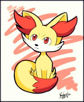 Fennekin Pokemon XY by LordFar3ll