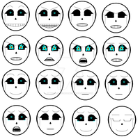 Arial Gaster Facial Expressions #1 by PiccoloFreakNamick