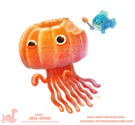 Daily Paint 1824# Jell-ofish by Cryptid-Creations
