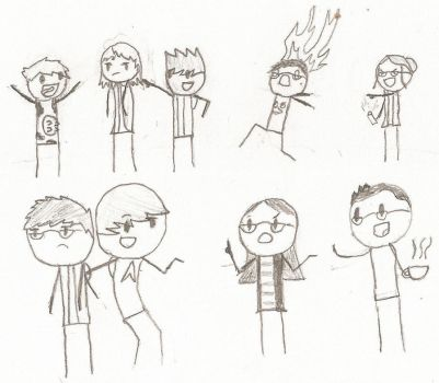 My Friends: Interaction Doodle by WeirdyMike