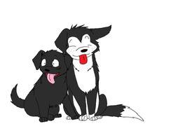 Ace and Luffy as puppies by XfangheartX