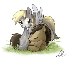 Derpy and Dr.Whooves by sp415