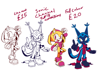 Sonic channel commissions OPEN by saltwaterTOFEE