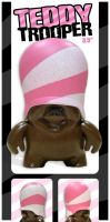 Teddy Trooper-Pink Helmet by Clanceypants