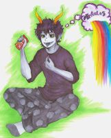 Gamzee: Fondly Eat Rainbow by nebluus