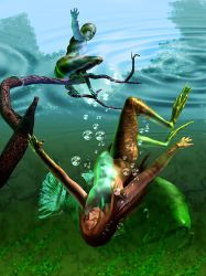 Enchanted Frogs by daleziemianski