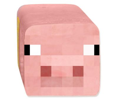 Square of Minecraft Pig Ham by JustinRampage