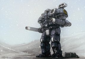 Mech Warrior - Devastator by Shimmering-Sword