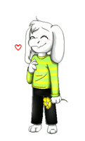 -Bouncing Asriel- by Chocoecaramell