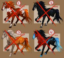 Adoptable Horses Sheet 01 [ 0/4 CLOSED] by Zevanox