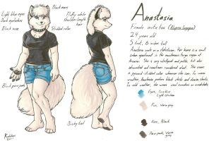 Anastasia Reference Sheet by KalahariFox