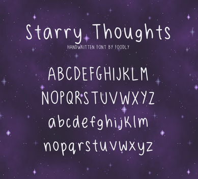 Starry Thoughts Free Font by foodly