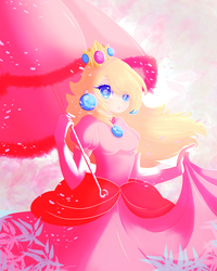 Princess peach by Ponpon-peppermint