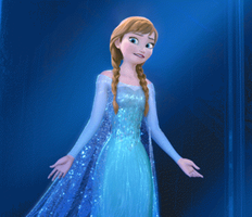 Anna the new snow queen (gif) by Astrogirl500