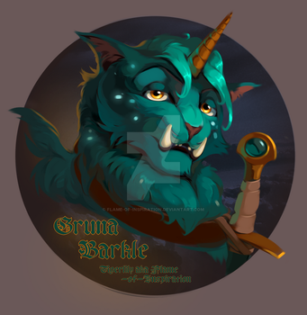 Gruna Barkle (Castle Cats) by Flame-of-inspiration