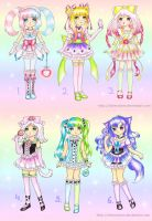 Magical and loli adoptables (closed) by SilverChaim