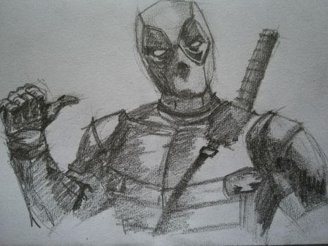 Deadpool sketch by Andrix9743