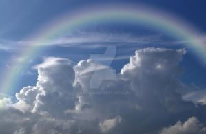 Clouds Mountains rainbow vs STOCK by AStoKo