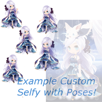 .:- Example of the New Custom Selfy's + OTA -:. by xShiori-Chan