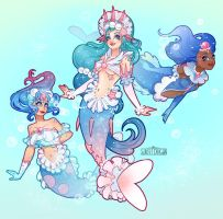 Popplio, Brionne and Primarina