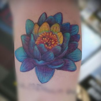 lotus flower tattoo by Pinkuh