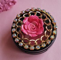 Glam Deco Lipgloss Compact by FatallyFeminine