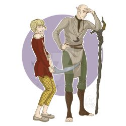 When Sera finds out about Lavellan by laugan-art