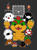 Super Mario Baddies! by KiiroiKat