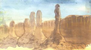 Watercolor Desert by Daryl-the-cartoonist