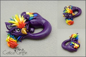 Kaiko - polymer clay sculpture by CalicoGriffin