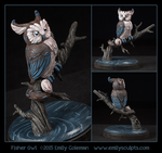 Fisher Owl by emilySculpts