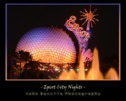 Epcot City Nights by barefootphotography