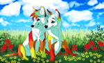 Ruru and Blaze by pinkykyra