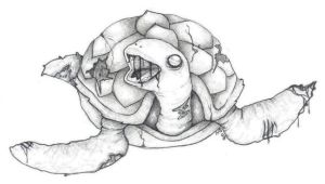 Zombie Turtle by Yeral