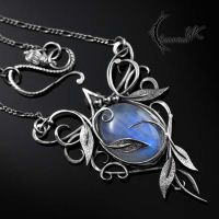 AZTAGHIN - Silver and Moonstone by LUNARIEEN