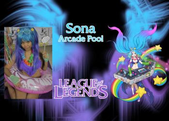 Pool Party Arcade Sona Cosplay by Ahrinx1