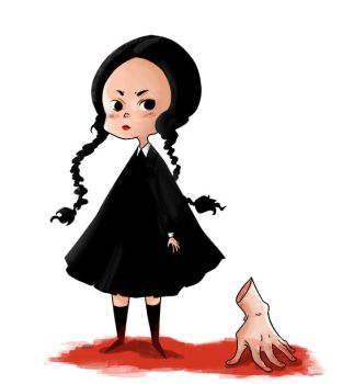 Wednesday Addams and Thing by MariChan27