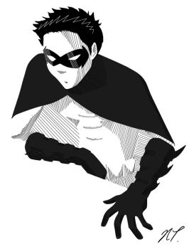 Tim Drake in Lines by natrival
