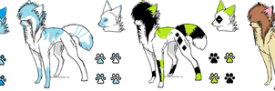 5 Points scene wolf adoptables by 6LITCH-TH3-W01F