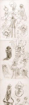 C.C's Character Concept Dump 2 by CurlyPoCkY