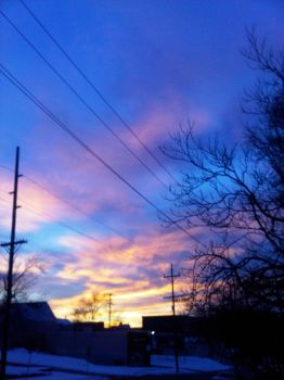 Sky in front of my house 1 by justnona