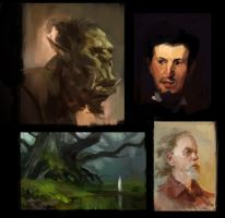 Studies of awesome paintings. by JordyLakiere
