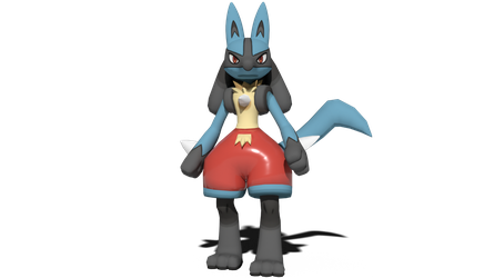 Lucario's swimming trunks by kuby64
