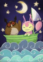 The Hoothoot and the Skitty-cat