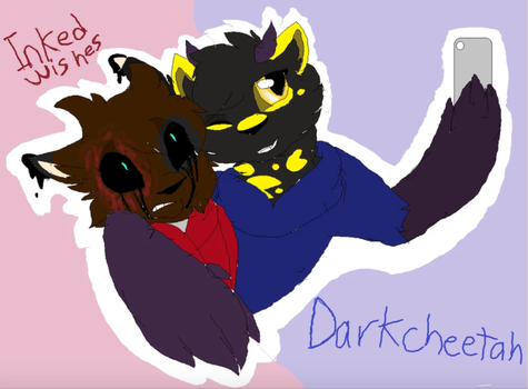 Inked Wishes and DarkCheetah by Lightingshadow12