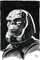 Darkseid Sketch Inks by ARTTHAM