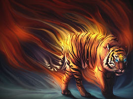 Tiger smudge by Shookera