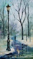 Beginning of winter by Leonid Afremov by Leonidafremov